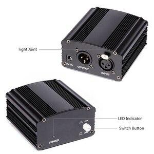 Image 4 - 48V Dc Phantom Power Supplyของแท้ProfessionalสำหรับStudio Recording Condenserไมโครโฟนคอมพิวเตอร์Eu Plug