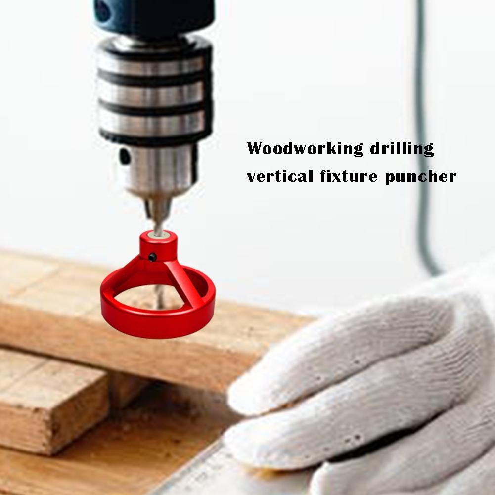 6/7/8/9/10mm Drill Bit Set Dowel Tenon Center Locator/Puncher Woodworking Tool Perpendicular 90 Degree Drilling 80*80*55mm