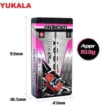 Yukala 7.6v 4000mah 2s 100c/200c baixo perfil hardcase super shorty hv lipo bateria bloco 4.0mm deans plug para rc carro rc barco