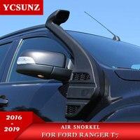 Snorkel de entrada de aire para Ford Ranger Wildtrak T7 T8 2016 2017 2018 2019 polietileno negro resistente a los rayos UV lineal