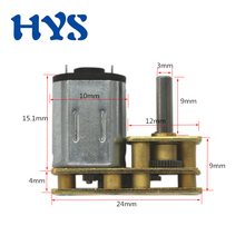 HYS DC 3V 6V 12V Motor Gear Reducer DC 12 volt Mini Electric Motor Permanent Magnet 15/150/300rpm Micro Motors reversible CW/CCW цена и фото