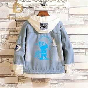 Image 5 - Распродажа, джинсовая куртка «атака на Титанов», джинсовая куртка для косплея разведчика, джинсовая куртка, Осень зима