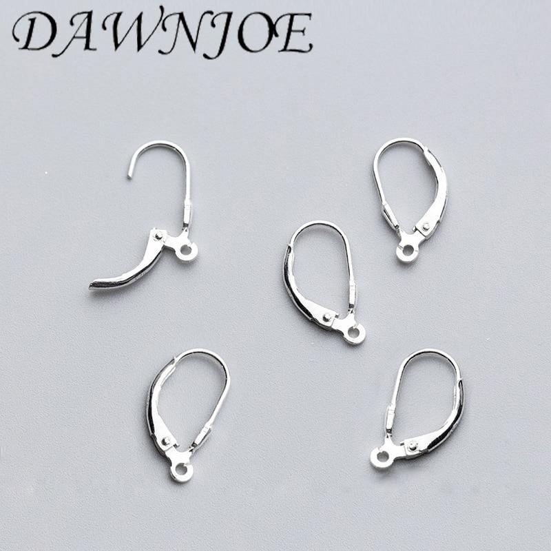 17.5*9mm S925 Sterling silver Earrings Hooks Clasps Earrings Clips DIY Drop Earrings Accessories Jewelry Supplie Finding