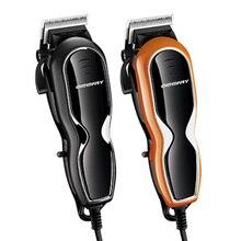 10W güçlü kablolu profesyonel kesme saç giyotin erkekler için elektrikli kesici saç kesme makinesi saç kesimi karbon çelik bıçak