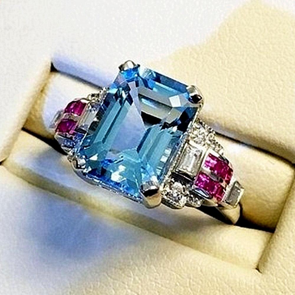 Loredana для женщин кольцо Loredana модное механическое кольцо с цирконием свадебное кольцо инкрустированное синим цирконием ювелирные изделия