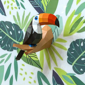 Toys Paper-Model Wall-Decoration Papercraft Birds Christmas-Gift Toucan 3D Home-Decor