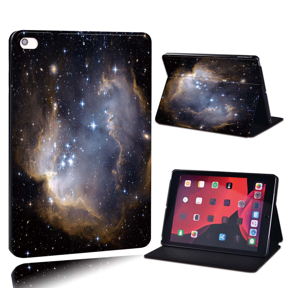 15.star in dark Khaki For Apple iPad 8 10 2 2020 8th 8 Generation A2428 A2429 PU Leather Tablet Stand