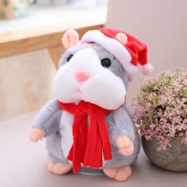 Фото детский говорящий хомяк мышь питомец рождественская игрушка цена