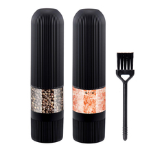 Salt and Pepper Mills,Electric Kitchen Spice Grinders Set With Bright Light,Adjustable Powered Shakers,Automatic One Hand Mills
