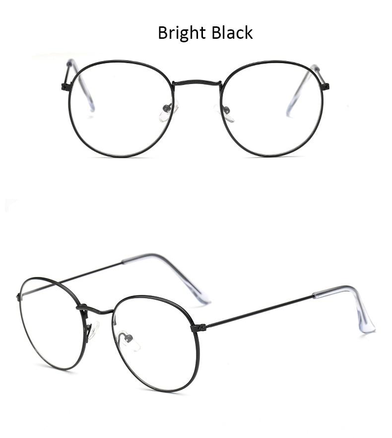 Moda óculos quadro clássico redondo feminino armação