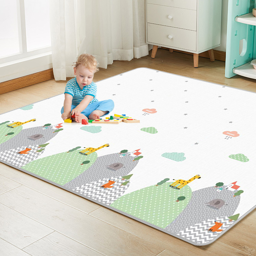 Foldable Puzzle Children's Mat Kids Rug Playmat Developing Mat Baby Room Crawling Pad Double-sided  Folding Mat Baby Carpet Toys