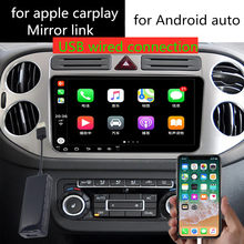 Apple CarPlay lustro Link MINI USB Smart Link pudełko na telefon dla systemu Android odtwarzacz nawigacji z systemem Android Auto samochód tuner tv grać(China)