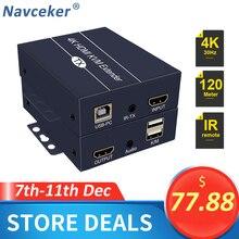 2020 лучший удлинитель KVM IP сети HDMI 200 м с выходом 1080P RJ45 порты HDMI удлинитель IR 660ft HDMI USB удлинитель по Cat5e/6