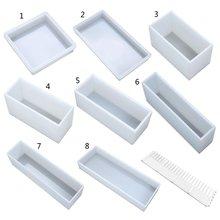 Супер большой прямоугольный силиконовые формы кусок мыла смолы