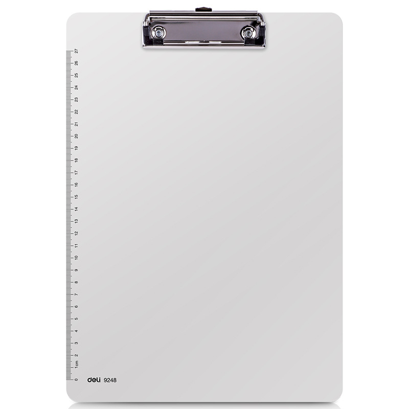 Office Supplies Writing Board Clip A4 Stationery Board Clip Folder Flat Clip Pad Board Clip With Ruler Office Supplies