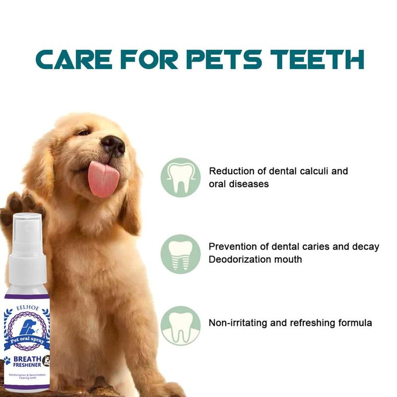 Pet Oral Cleaners Care Mouthwash Spray Cleaning Supplies Antibacterial Dog Mouth Teeth Deodorant Pet Air Freshener Wholesale
