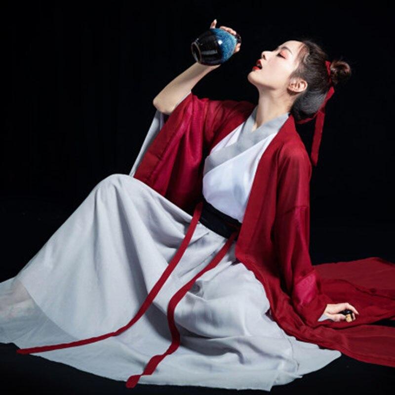 2020 novas mulheres hanfu dança folclórica chinesa traje do vintage elegante melhorado hanfu terno han dinastia espadachim cosplay traje outfit
