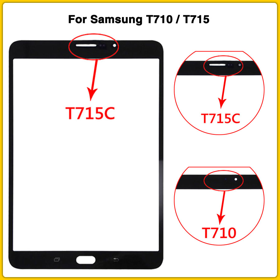 New T710 Touchscreen For Samsung Galaxy Tab S2 8.0 T710 T715 Touch Screen Panel Digitizer Sensor LCD Front Glass
