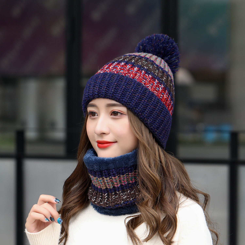 2020 High Quality Women's Winter Knit Hat Autumn Winter Wool Cap Fashion Women's Hat Balaclava Hat Two-piece Men's Hat Wholesale