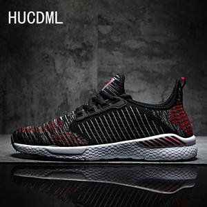 HUCDML Breathable Sneakers Light Tenis Couple Men Shoes Flyknit Feminino Walking Size-36-48