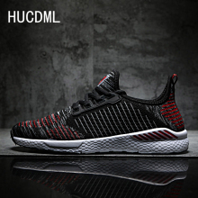 HUCDML 2019 New Men Shoes 9 Colors Flyknit Men Casual Shoes