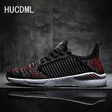 HUCDML 2019 New Men Shoes 9 Colors Flyknit Men Casual