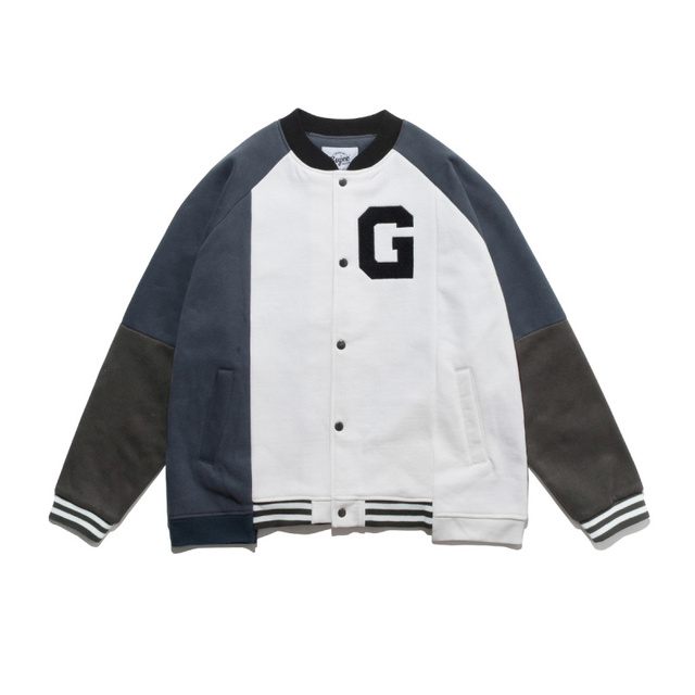 2020 spring and autumn new color matching trendy baseball suit men's trendy pilot couple's tooling coat loose top 1