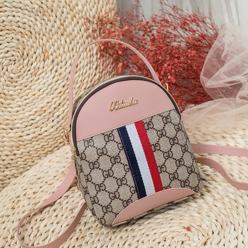 2019 New Products Women's Printed Backpack Logo Crossbody Bag Simple Fashion Bag