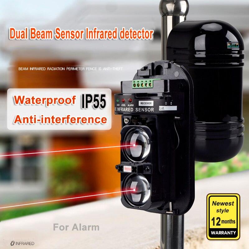 Externe Positionierung Alarm Detektor Infrarot Strahl Sensor Barriere Für Tore, Türen, Windows Schutz Gegen Hacking System