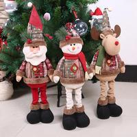 Новогодние рождественские большие украшения для кукол украшения для рождественской елки домашний декор инновационные Санта Снеговик окон...