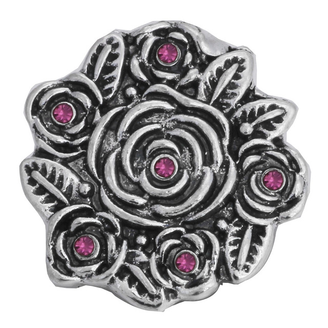 Snap Button Crystal Charms 5 pcs Set