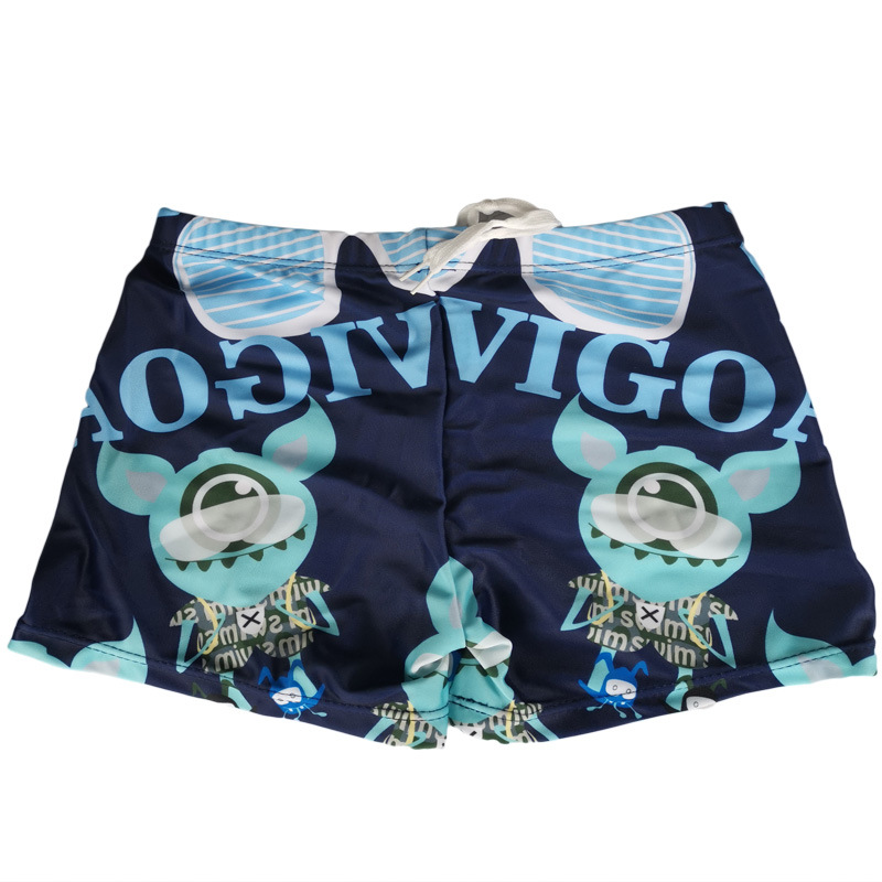 2020 New Style BOY'S Cartoon Comfortable Swimming Trunks Boy Learn Swimming Trunks Double Color Selectable Breathable Body Huggi