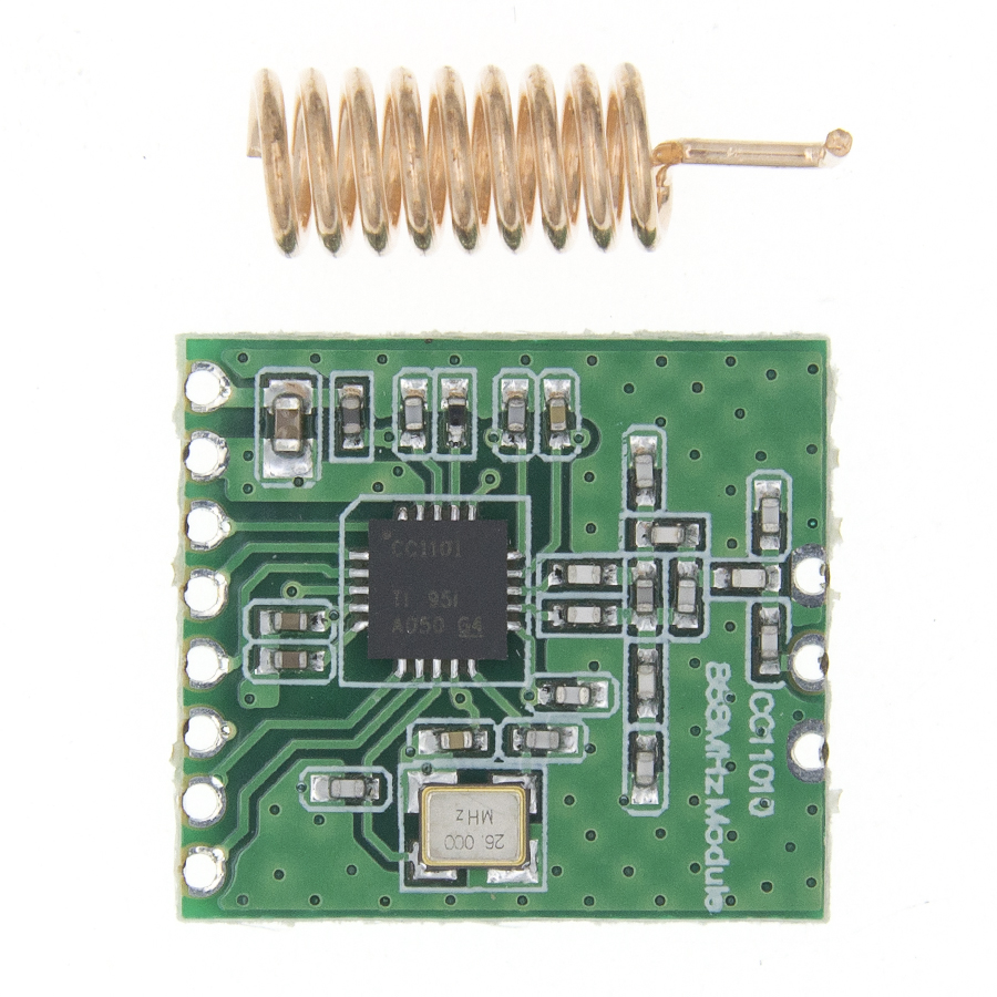 CC1101 Wireless Module Long Distance Transmission Antenna 868MHZ For FSK GFSK ASK 64-byte SPI Interface For Raspberry Pi
