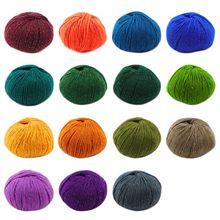 3 Roll 2 Strand Medium Thick Acrylic Fiber Hand Knitting Yarn Colorful Shiny Metallic Crochet Wool Thread for DIY Scarf