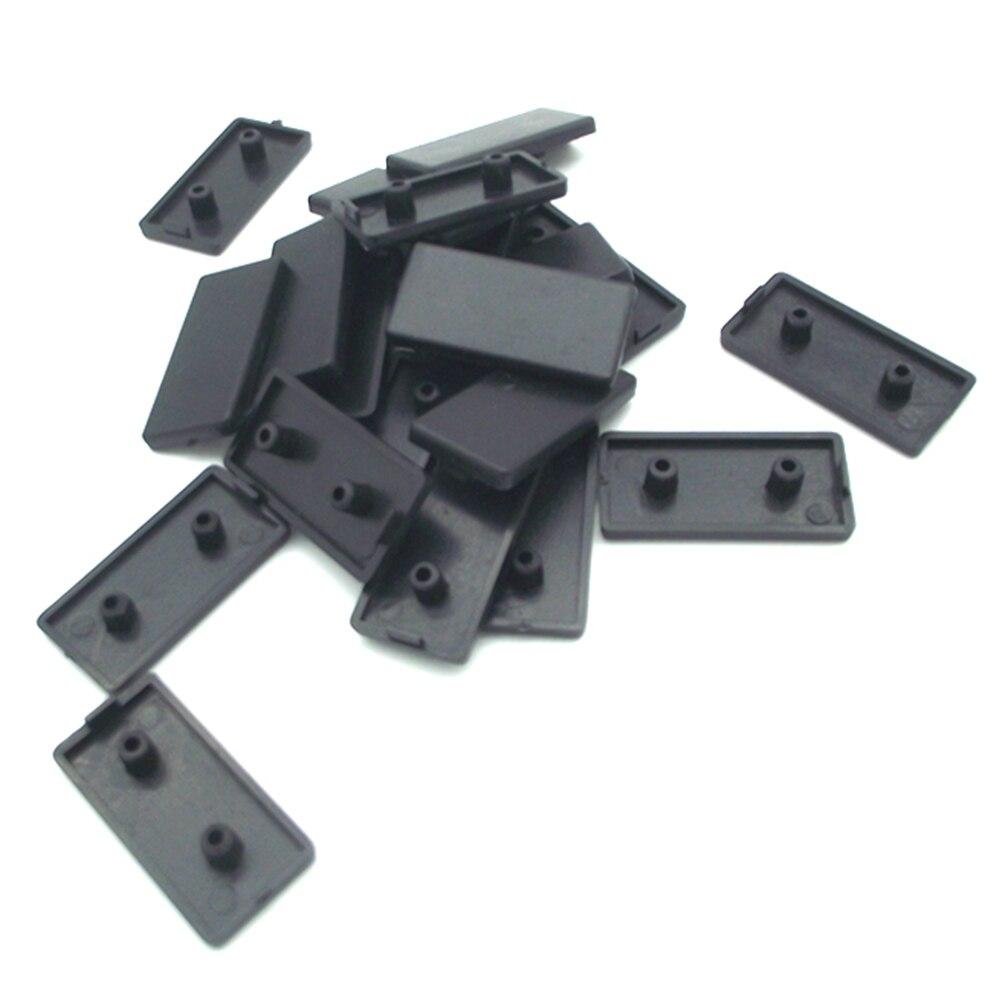 50pcs 2040 Plastic ABS End Cap For  Series Aluminum Profile Accessories Double Hole