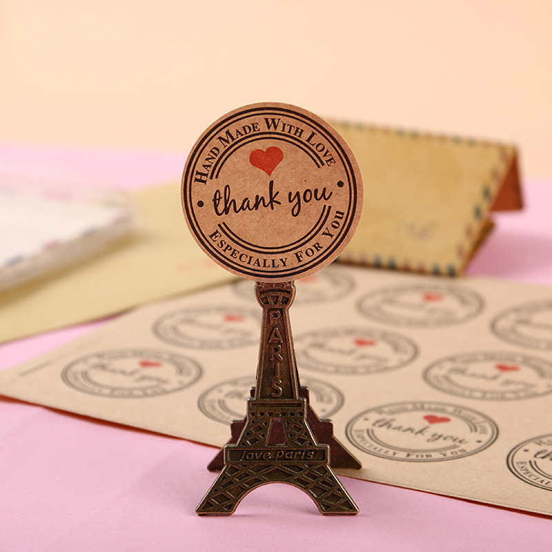 Kraft Paper Hand Made Thank You Stickers 100-500pcs Appreciation Tag Label For Partners Business Bag Sealing Especially For You