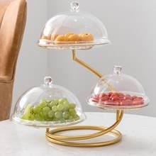 Metal demir meyve sepeti standı 3 katmanlı meyve tabağı kek tabağı tatlı aperatifler plaka kompostosu sebze aperatifler depolama tepsisi standı