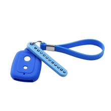 2 Button Car key Silicone Cover Protector Holder with Phone Number Card Fit for Perodua Myvi Viva Alza Remote Key Accessories