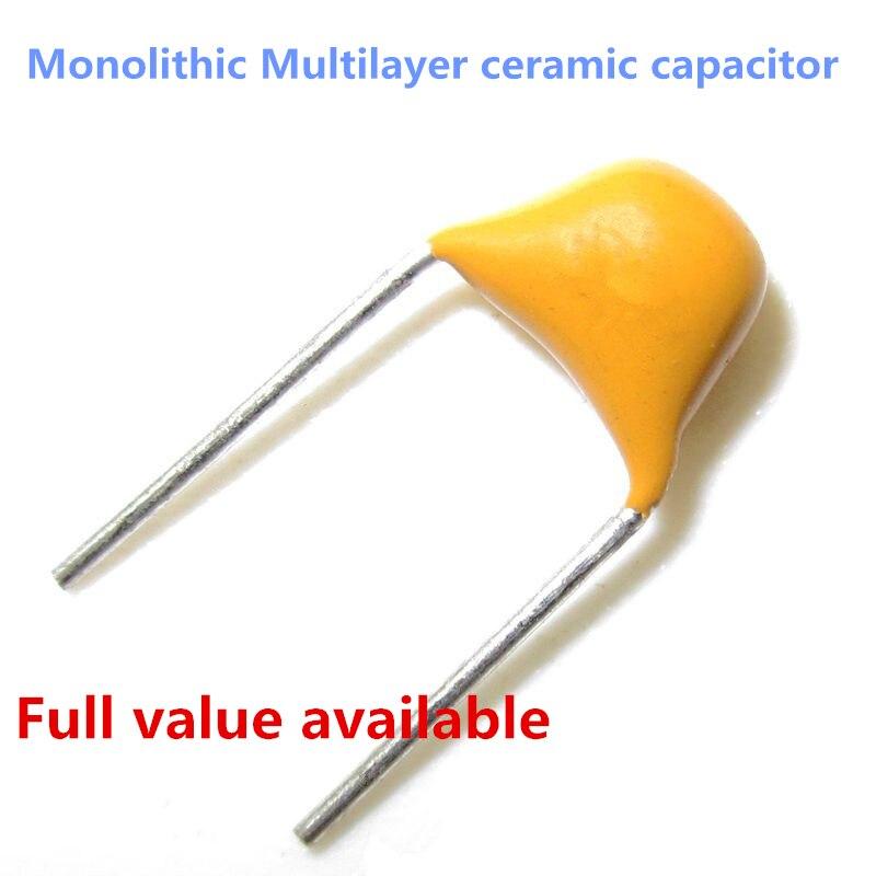 50Pcs 47Nf 473 50V Monolithischer Keramikkondensator bc