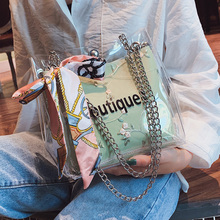 Bags Women Crossbody 2019 New Transparent Handbag Chain Jelly Bag Shoulder women