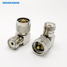 цена на M type SL16 90 Degree UHF Plug Male PL259 To SO239 Female UHF Connector Right Angle Connector Adapter 1pcs