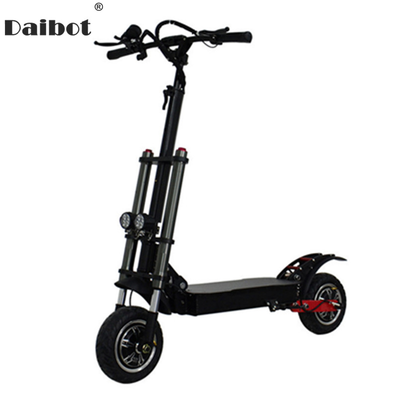 Daibot Powerful Electric <font><b>Scooter</b></font> Off Road 11'' Two Wheels Electric <font><b>Scooters</b></font> Dual Motor <font><b>3200W</b></font> 60V 80KM/H Kick <font><b>Scooter</b></font> Electric image