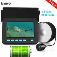 Eyoyo Efpro 20M Macchina Fotografica Subacquea per La Pesca 4.3 Monitor Lcd Fish Finder 8 Pcs Led Angolo di 110 Gradi batteria Al Litio 8500 Mah