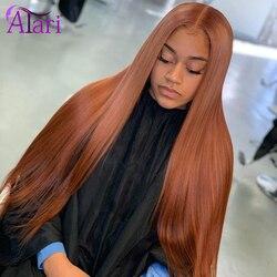 HD koronkowa peruka z przodu 30 brązowa koronkowa peruka 30 Cal koronkowa peruka na przód 180% peruka z prostymi włosami indyjskie dziewicze włosy peruki dla czarnych kobiet