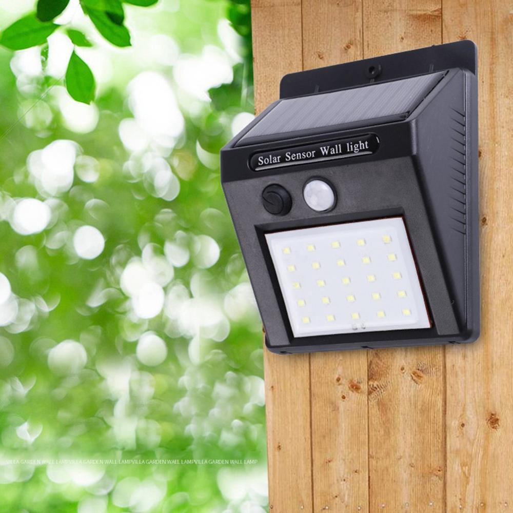 עמיד למים 25 LED Solar Power PIR חיישן תנועת גן קיר אור חיצוני בית אור