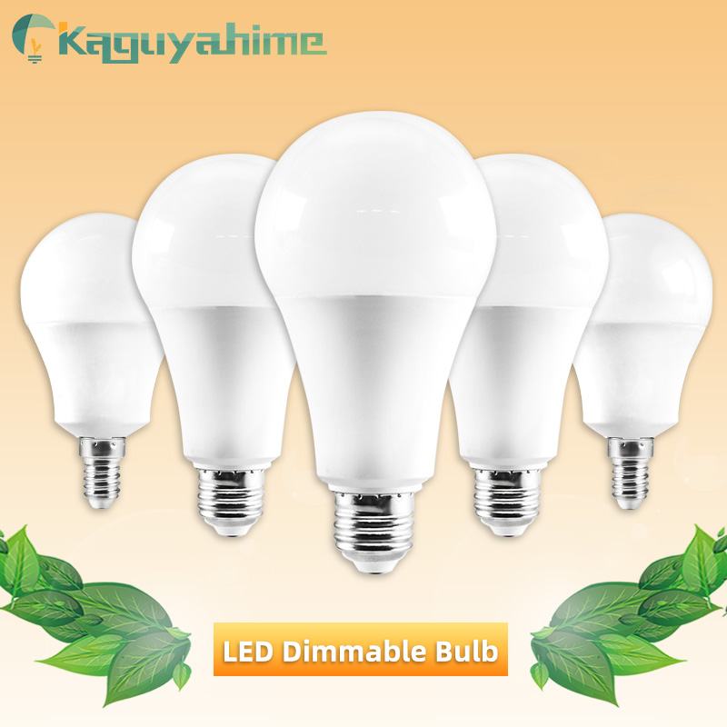 Kaguyahime 1pc/5pcs LED E27 Bulb Dimmable Lamp E14 220V 6W 15W LED Bulb E27 LED Light Lampadas Bombillas Warm White Cold White