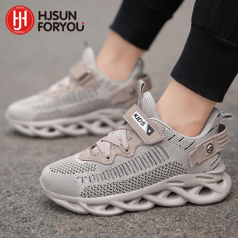 Hot Sale 2021 Soft Bottom Children Sneakers Non-slip Breathable Casual Shoes Fashion Velcro Sport Shoes Boys Girls Running Shoes