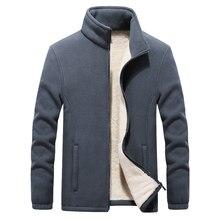 2019 kış yeni standı yaka erkek Polar Polar ceketler kalınlaşmak sıcak tutan kaban büyük boy 6XL 7XL 8XL 9XL