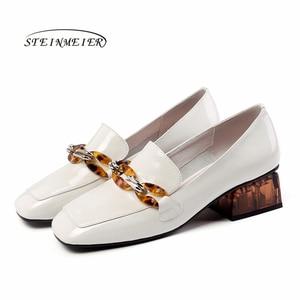 Image 3 - المرأة الشقق أكسفورد أحذية امرأة حقيقية أحذية رياضية من الجلد السيدات تصليحه slipon خمر حذاء كاجوال أوكسفورد أحذية للنساء