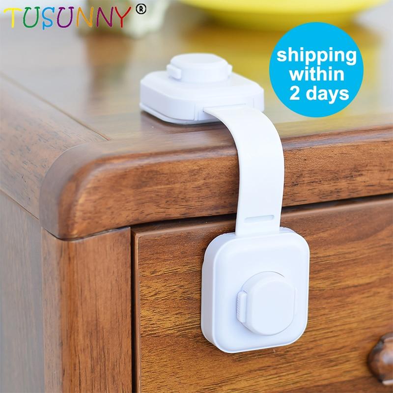 TUSUNNY 1/2/3pcs/Lock On The Fridge Baby Safety Child Lock Baby Kids Care Plastic Locks Straps Infant Child Protection